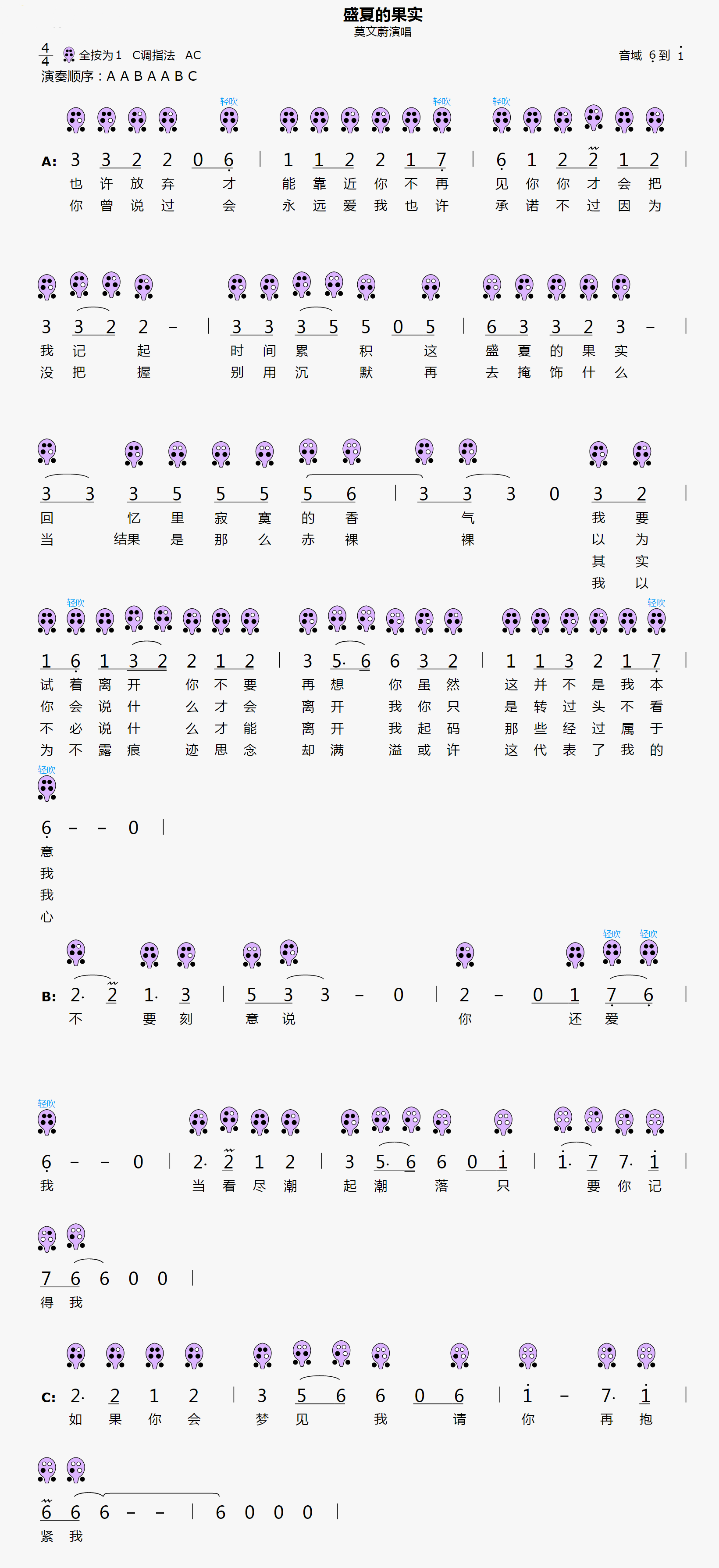 无羁钢琴谱双手简谱